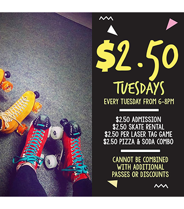$2.50-Tuesday